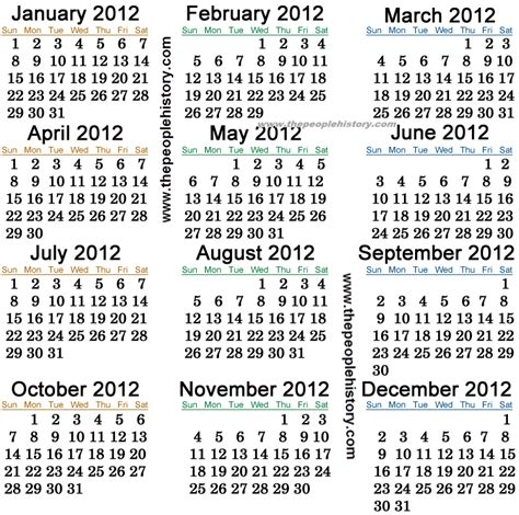 Calendar Of 2012 What Happened In 2012 Inc Pop Culture Prices And Events