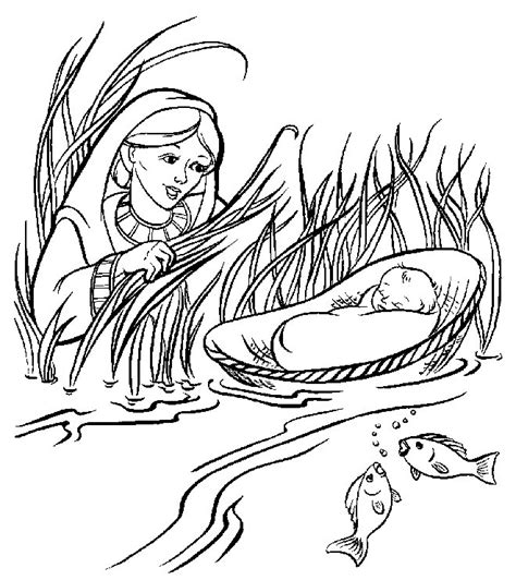baby moses coloring pages az coloring pages