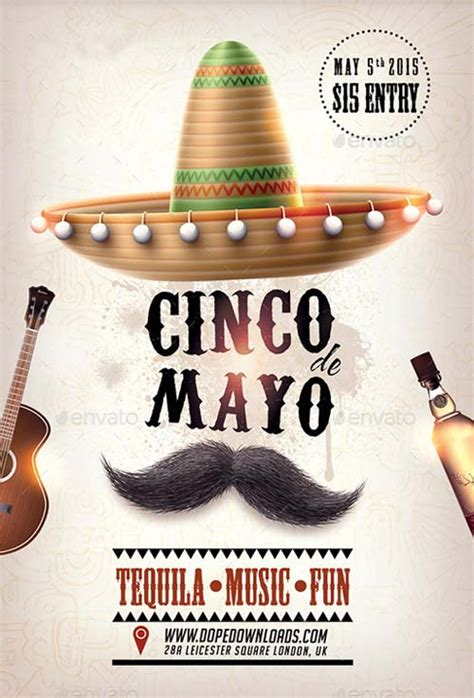 Cinco De Mayo Party Club Flyer Template Best Flyer For Mayo Parties Cinco De Mayo Template