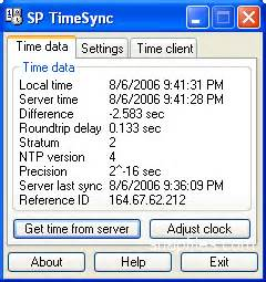 computer network time synchronization the network time protocol on earth and in space second edition books sp timesync screenshot and at snapfiles