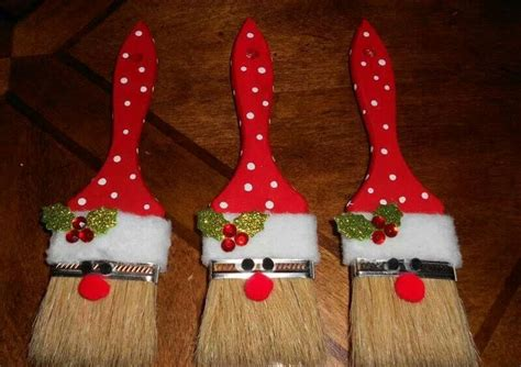 homemade christmas paint brush santa decorations ehow uk
