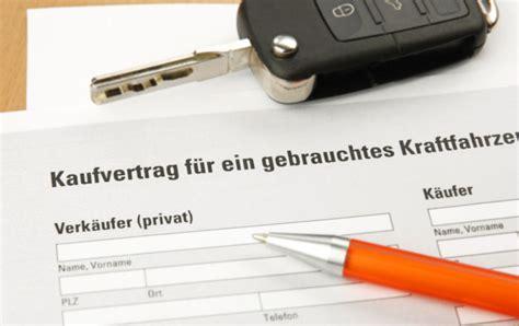 Kaufvertrag Auto Privat An Händler by Auto Kaufvertag Privat Tipps Mustervertrag F 252 R
