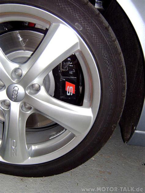 Bremse sline : Lackierte Rad/Achsaufhängung mit S Line Aufkleber : Audi A6 4F : #203823270
