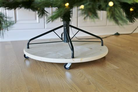 christmas tree stand on wheels tree platform chritsmas decor