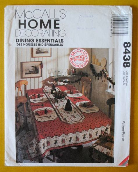 mccalls 2723 uncut pattern home decor sewing room uncut vintage 1990s mccalls home decor 8438 tablecloth