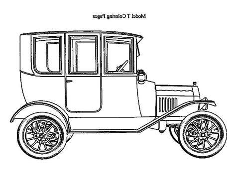coloring page of model t car model t coloring sheet car coloring pages submited images