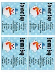 Snowman soup printable poems plus 5 delicious recipes snowman soup