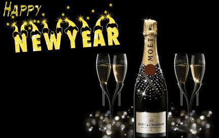 happy  year  hd wallpaper champagne