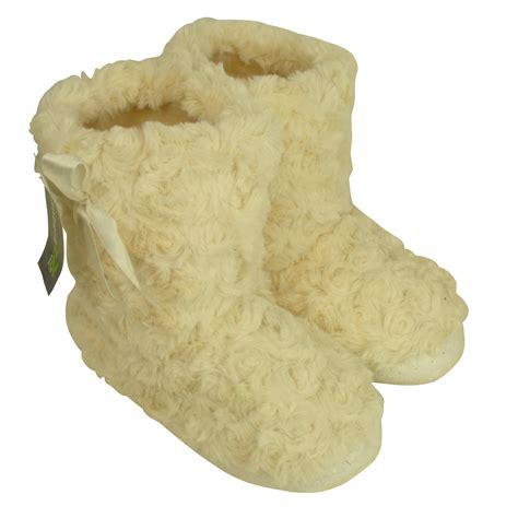 fuzzy boot slippers eskimo ankle boot slipper childrens