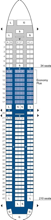 united seating chart 767 300 seating chart images