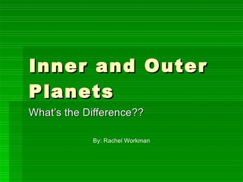 Outer Iner contrast inner and outer planets pics about space