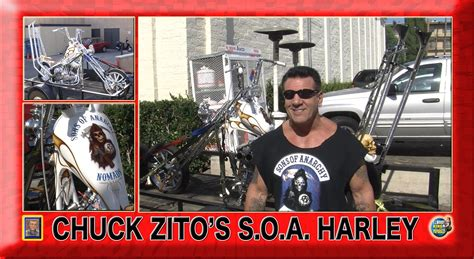 chuck zito shows off his sons of anarchy harley w101312
