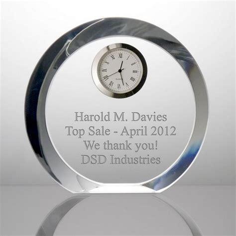 engraved desk clock