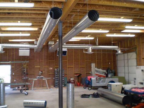 dual dual compressor units  exposed duct  garageshop