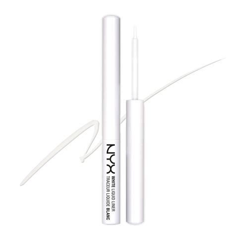 Nyx Eyeliner White nyx white liquid liner review makeup look