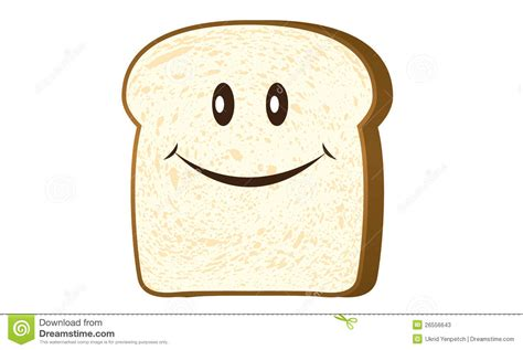 Bread Slice Isolated On White Vector Stock Photos   Image