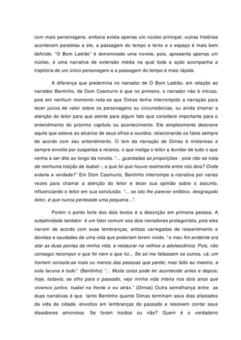 UMA PITADA DE LITERATURA: ANÁLISE DOS NARRADORES DE DOM