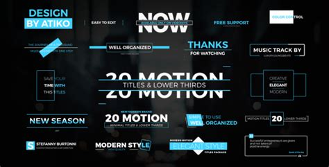 Motion Titles Lower Thirds 1 Corporate After Effects Templates F5 Design Com Motion Title Templates