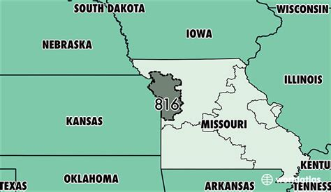 map missouri area codes related keywords suggestions for 816 area code