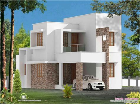 simple slanted roof modern house simple modern house plan