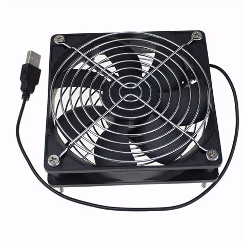 usb powered car fan gdt dc 5v usb 1500rpm 0 2amp 120x120x25mm 120mm 12cm 5
