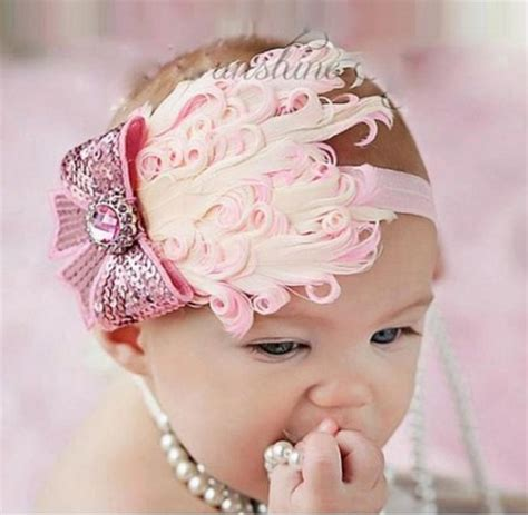 baby pink feather headband with bow only 3 45 free shipping