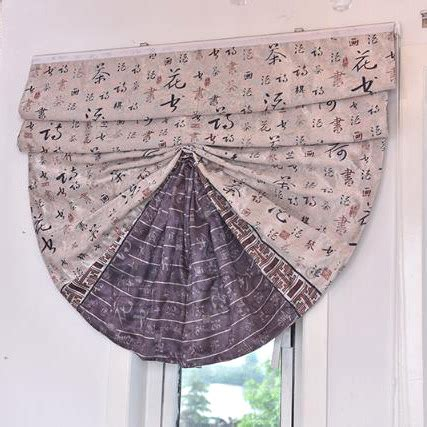 brown patterned roman blinds asian patterned fan shaped brown roman shade curtains
