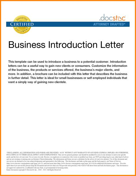 Business Letter Sle New Business 4 Company Introduction Letter For New Business Assembly Resume