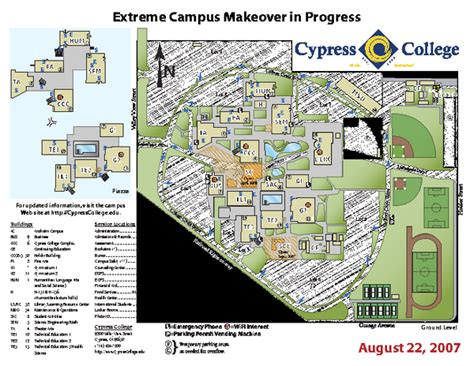 cerritos college map cypress college cus map 9200 valley view st cypress