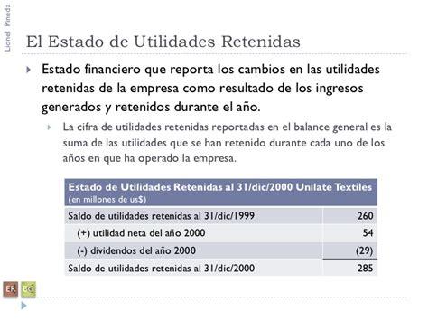 el resultado resumen de los clculos de la tabla analisis de estados financieros