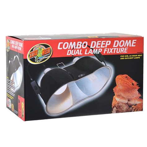 zoo med combo deep dome dual l fixture zoo med zoo med combo deep dome dual l fixture