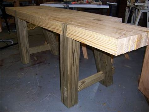 legs   bench   installed   mortise