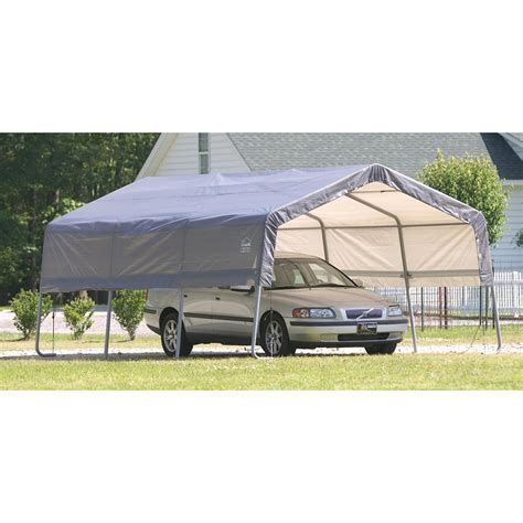 Shelterlogic Carport shelterlogic carport in a box 174 129580 garage car shelters at sportsman s guide
