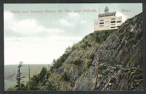 mt holyoke summit house rocks summit house mt tom near holyoke ma postcard 1910s