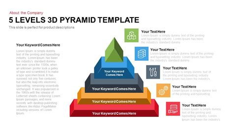 3d pyramid template 5 levels 3d pyramid powerpoint keynote slidebazaar