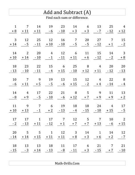 Addition And Subtraction Worksheets For Grade by 28 Addition Worksheets Grade K Subtraction