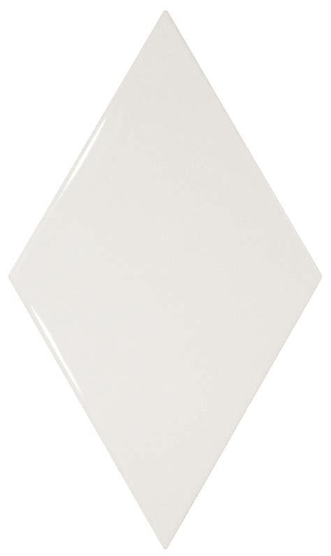 Rhombus White Gloss   Ceramic Tile Supplies