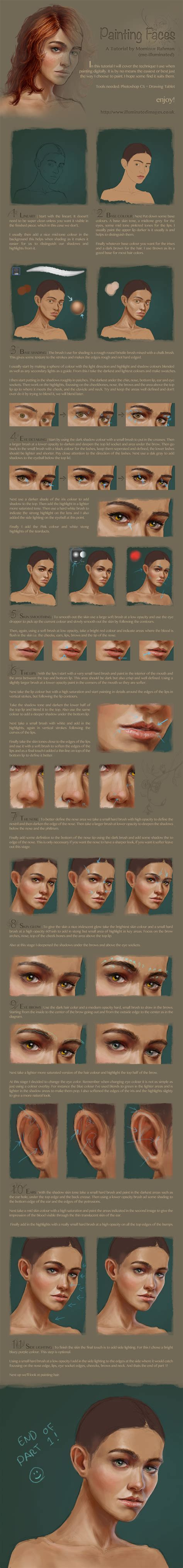 watercolor tutorial part 1 digital face portrait painting tutorial part 1 by me