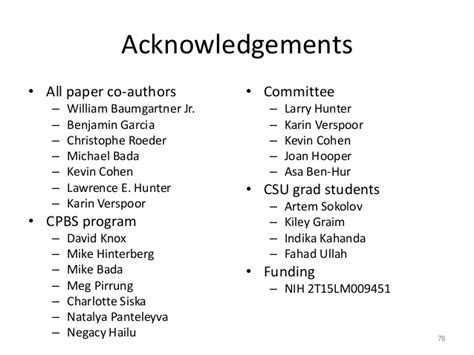 acknowledgement thesis defense computational biology thesis defense