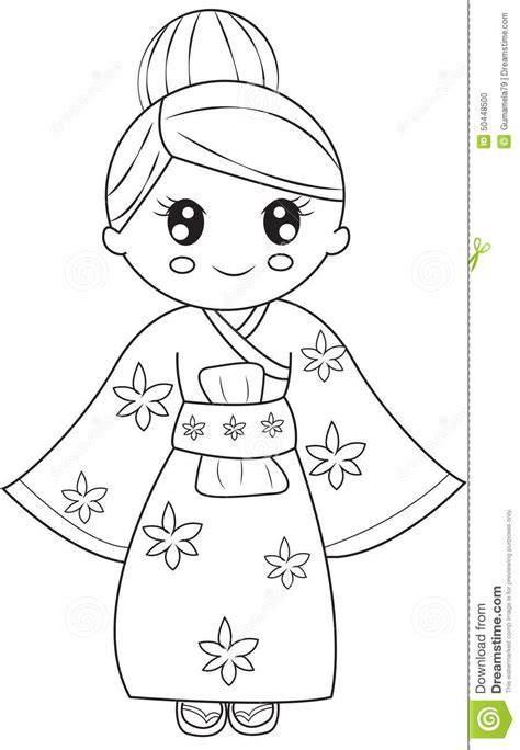 coloring book korea stock photo korean coloring page image 50448500