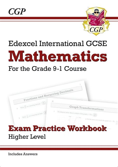 new grade 9 1 edexcel 1782946764 new edexcel international gcse maths exam practice workbook higher grade 9 1 with answers