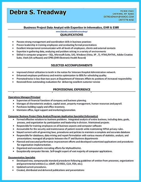 Resume Profile Exles For Data Computer High Quality Data Analyst Resume Sle From Professionals