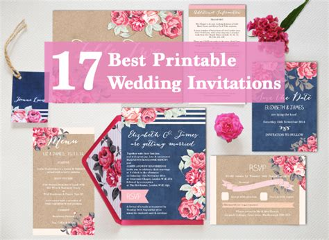 17 of the best printable wedding invitations - Best Printers To Print Wedding Invitations