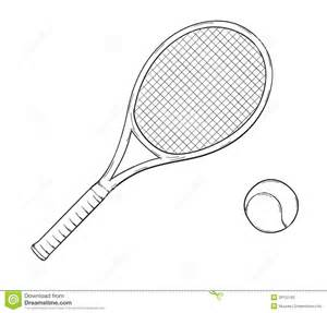 Tennis Racket Stock Vector  Image 39122183 sketch template