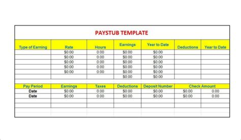 62 Free Pay Stub Templates Downloads Word Excel Pdf Doc Pay Stub Template Microsoft