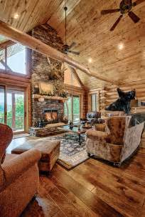 Log Home Interiors Photos by A Mountain Log Home In New Hshire