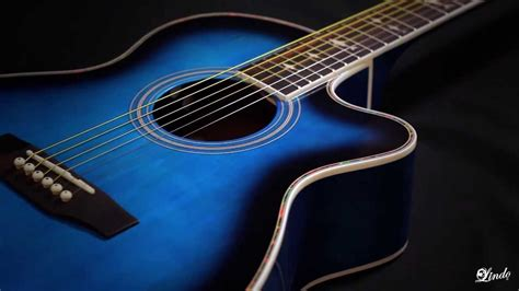wallpaper guitar blue blue and black acoustic guitar 4 widescreen wallpaper