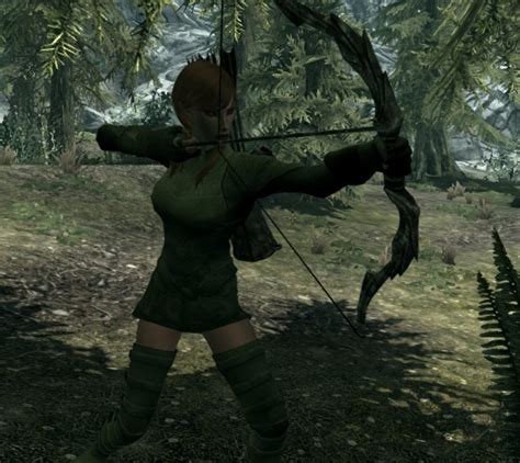 skyrim archer armor mod elven archer armor 3 recolors at skyrim nexus mods and