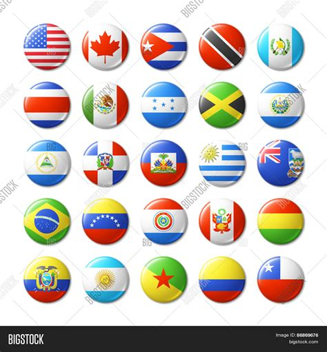 flags of the world magnets world flags round badges magnets vector photo bigstock