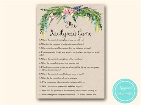 bridal shower the newlywed questions for groom 25 best ideas about newlywed questions on